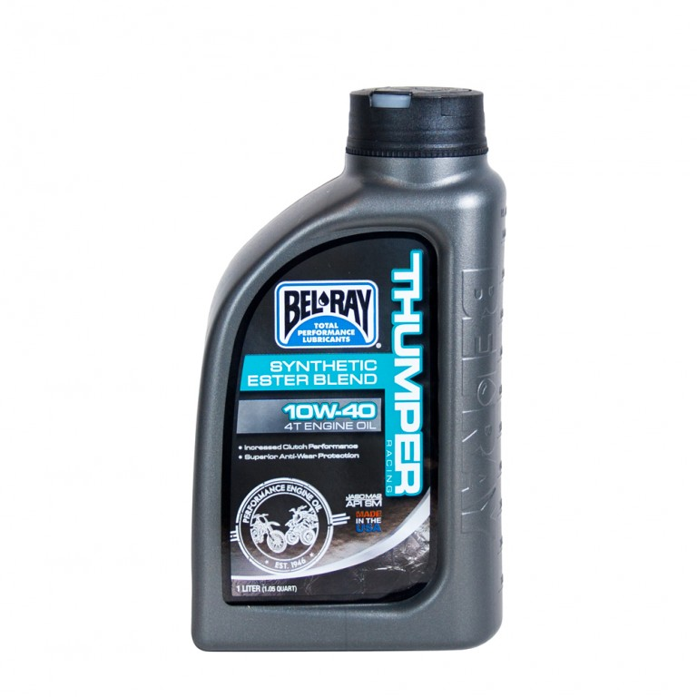 engine oil thumper racing synthetic ester blend 4t 10w-40 1 l