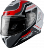 FULL FACE helmet AXXIS DRAKEN ABS cougar a5 gloss fluor red XS