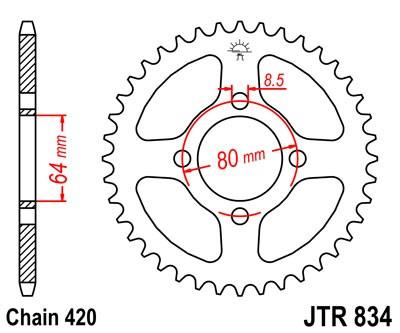 JT Rear Sprocket JTR834 28 Teeth