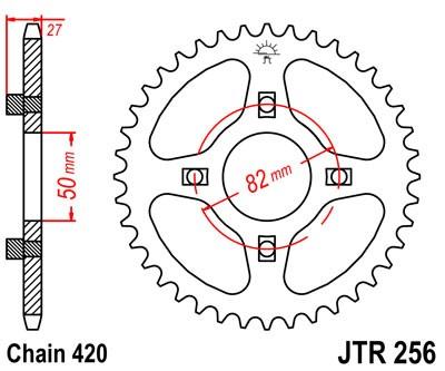 JT Sprockets JTR256.46 46T Steel Rear Sprocket