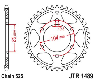 JT Sprockets JTR897.44 44T Steel Rear Sprocket