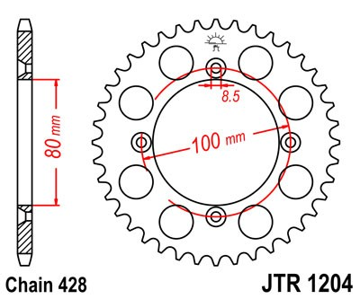 JT Sprockets JTR486.46 Steel Rear Sprocket