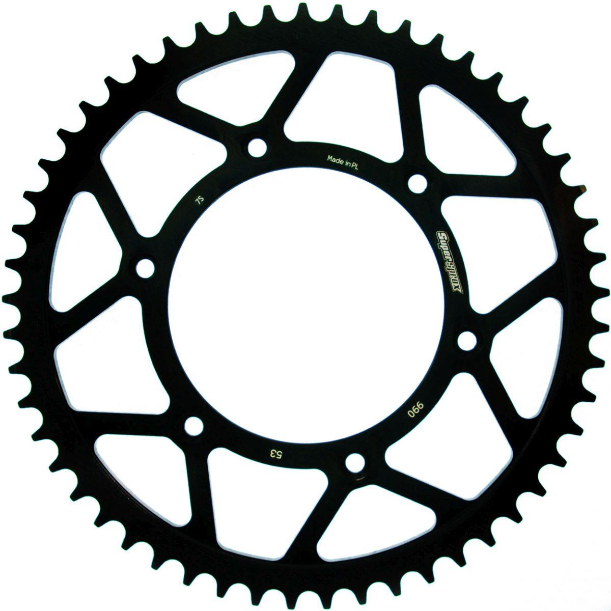 Supersprox Motorcycle Black 520 Rear Steel Sprocket 48T RFE-990-48-BLK