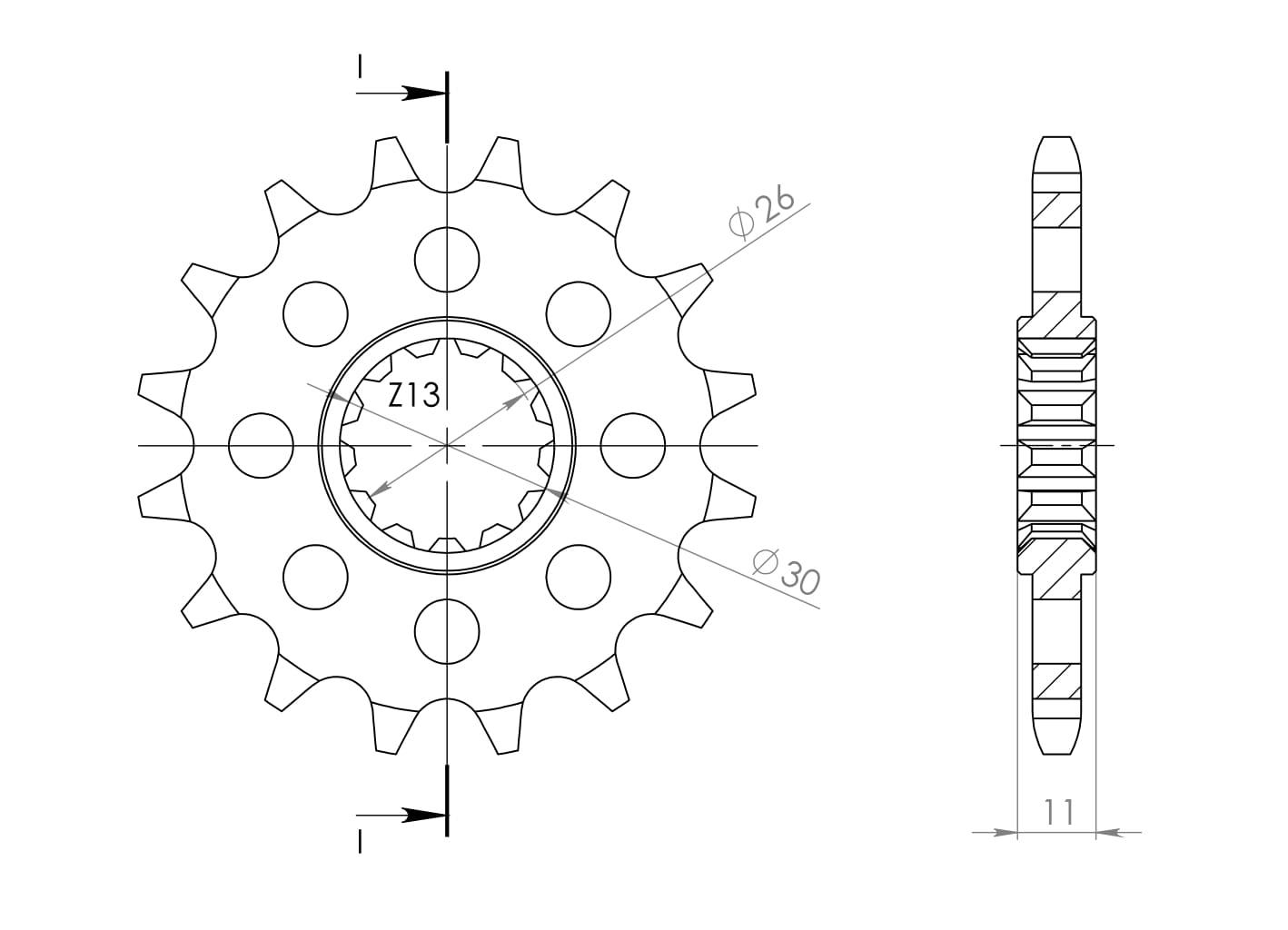 SuperSprox CST-1591-15-2 Front Sprocket